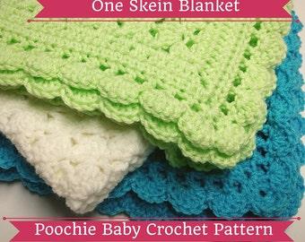 PATTERN - One Skein Baby Blanket - Crochet Pattern