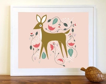 Enchanted Deer Art Print