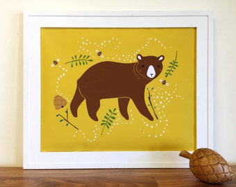 Enchanted Bear Art Print