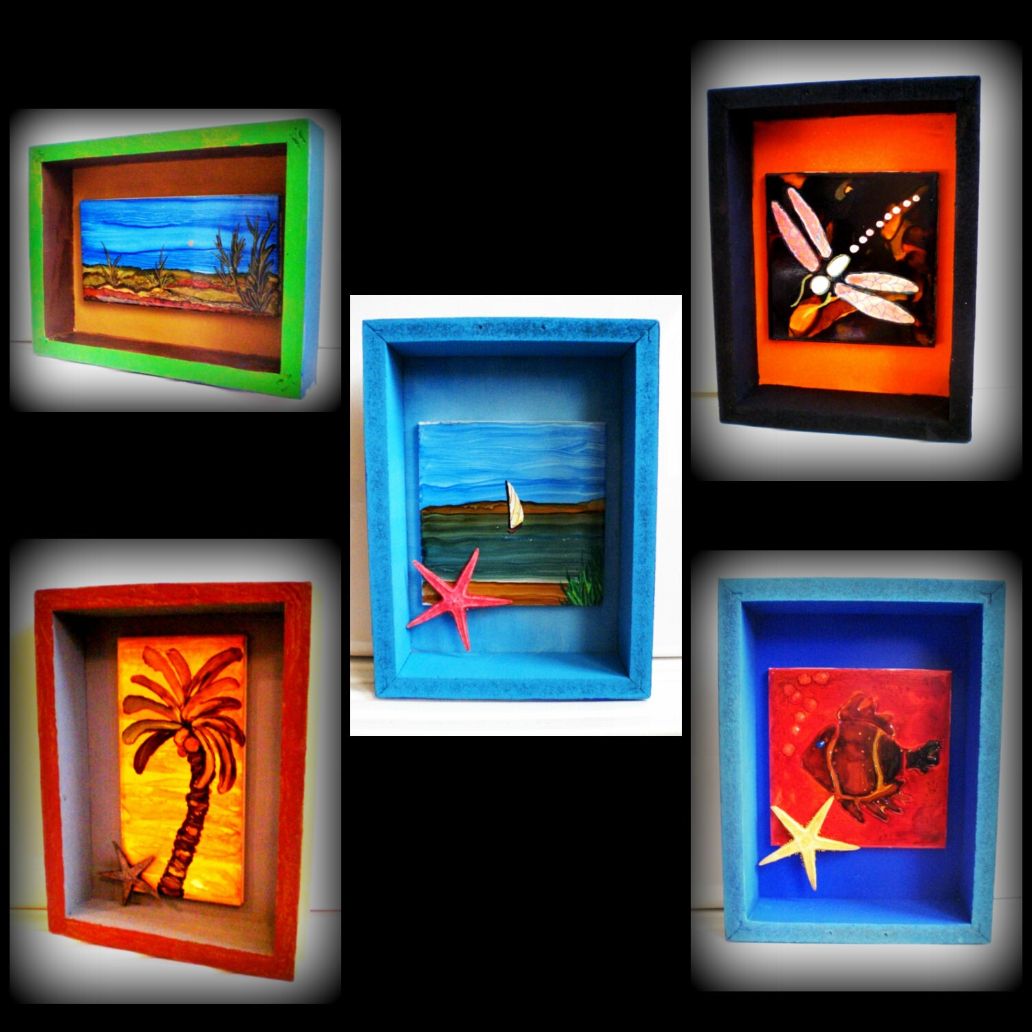 Wall Art Shadow Box : Shadow box decor wall art custom boxes