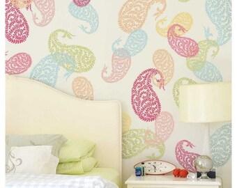 Jaipur Paisley Wall Art Stencil - Small - DIY Wall Art - Reusable Wall Decor