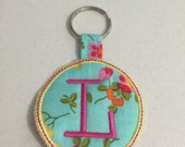 L Embroidered Keychain Ready to ship
