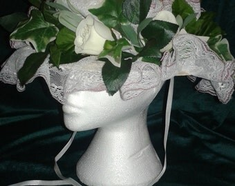 Steampunk  Victorian Floral Boater
