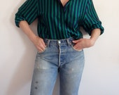 Womens Blouses Vintage Striped