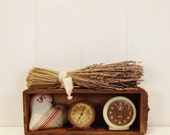 Vintage Wooden Sewing Machine Drawer Industrial Decor