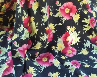 Gypsy Queen Bohemian Vintage Silky Fabric Yardage
