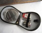 Vintage Gillette Travel Shave Kit Mirror West Germany