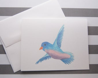 Bluebird Note Cards set of 10 with Envelopes GC100