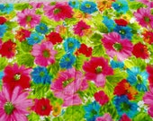 Bold/Bright/Beautiful Flower Vintage Velvet Fabric 5 Yards Plus