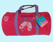 Child's Monogrammed Stephen Joseph Newest Style BALLET Quilted Duffle Bag