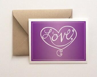 Love Lettered Card