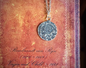 Sterling Silver Antique Coin Necklace