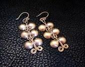 Ancient jewelry, Brass Earrings, Brass jewelry, greek earrings, roman earrings, brass earrings, Ancient Inspired