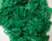 "Suri Alpaca Locks, Emerald Green Hand Dyed Locks, 4-6"" Locks, Spinning Fiber, Suri Alpaca Locks"