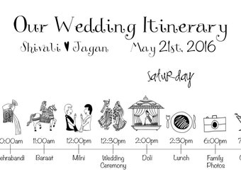 Indian wedding timeline printable digital file schedule indian wedding timeline printable digital file schedule itinerary junglespirit Images