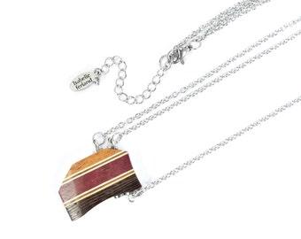 necklace / reversible / women necklace /  wooden jewelry /pendant / wood / isabelle ferland