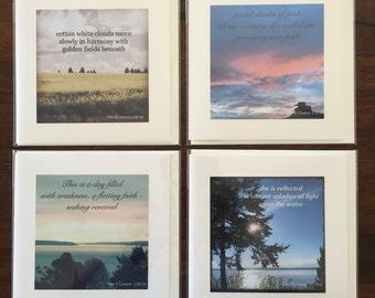 Set of Four Haiku Poetry Greeting Cards