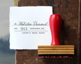 Custom Return Address Stamp // Personalized Rubber Stamp // DURAND