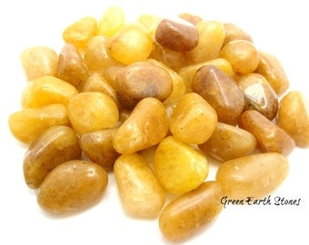 Golden Quartz Tumbled Stone, Large, Healing Crystals, Feng Shui, Wire Wrap, Crystal Grids, Vitality, Protection, Balance