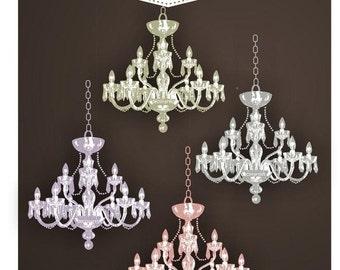 ON SALE , Clip art chandelier, digital clipart , instant download