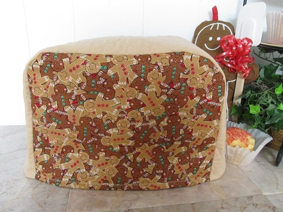 Christmas 2 Slice Toaster Cover Gingerbread Men Holiday Cookies Ready To Ship