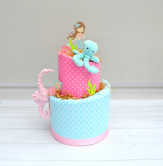 mermaid baby shower little mermaid diaper cake mermaid party