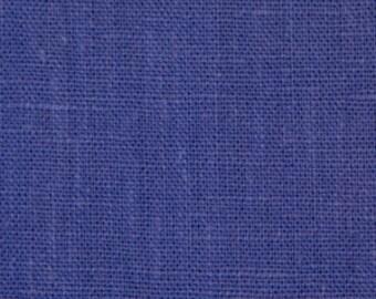 Solid color linen drapes, cornflower blue linen curtain panels, rod pocket panels, drapes