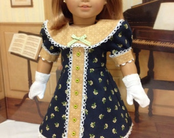 "Easter ""Sunday's Best"" dress and gloves for American Girl or other similar sized 18 inch dolls"