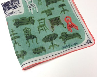 20% Off SALE Coupon Code FAVORITE20 Vintage Tammis Keefe Chairs And Settees Hanky
