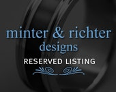 samanthaschwickerath - Domed Blue Signature Ring plus Titanium LC sizers and engraving
