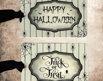 Halloween, Happy Halloween, Trick or Treat, Party Favors, Tags, Gift Tags