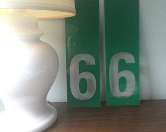 Vintage Acrylic Numbers 9s or 6s
