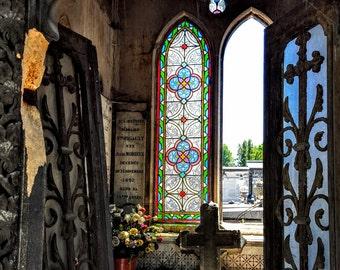 Pere Lachaise Cemetery, Paris - 11 x 14 Fine Art Canvas Print