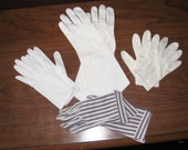 Four pair antique women's dress gloves