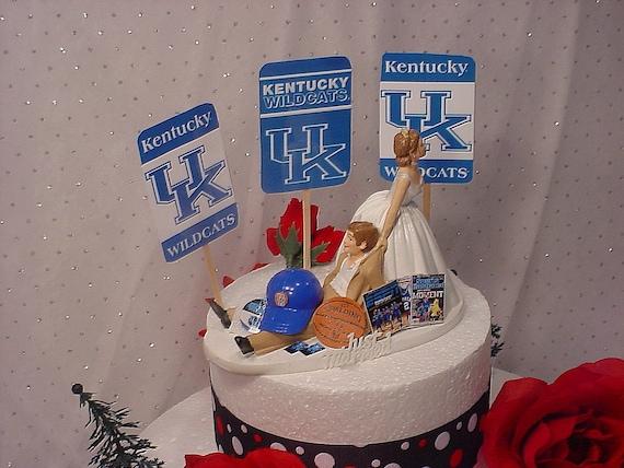 Kentucky Basketball Wedding Cake Topper