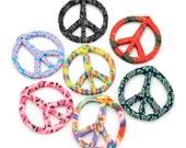 Fimo Peace Pendant, 10pcs, 40mm, Polymer Clay Pendant, Peace and Love -B478