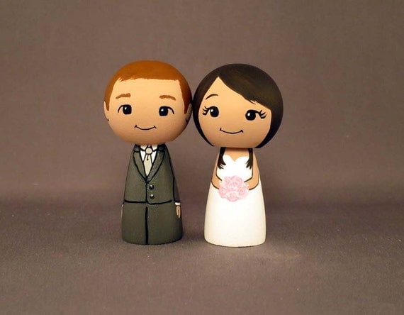 redhead wedding cake topper wedding cake toppers groom doll by licoricewits on 19127