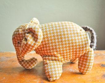 Vintage Handmade Elephant Stuffed Toy