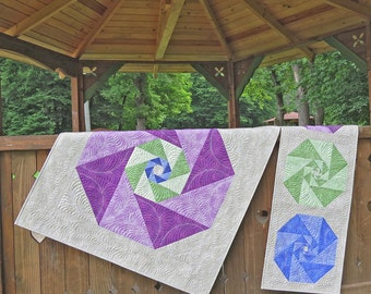 Simple and Modern Geometric Quilt Pattern