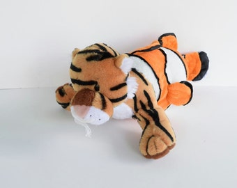 Tigerfish, morphed mutant stuffed toy animal,