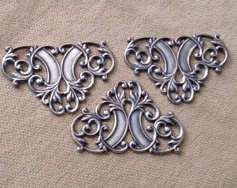 Silver Plated Filigree Components