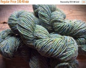 Yarn Sale Wool knitting yarn Peace Fleece worsted weight Anna's Grasshopper sage green