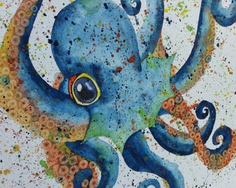 Octopus Watercolor Painting