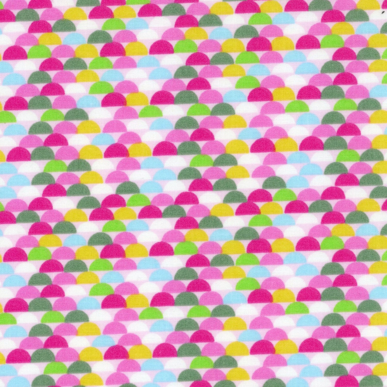Sale geometric print fabric half circle brights galaxy for Galaxy fabric canada