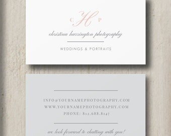 Photography Business Card Template - Photographer Branding Templates - Customizable Marketing Designs m0229 - Design By Bittersweet