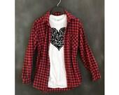 Heart tshirt . Women's heart tee . white . unisex