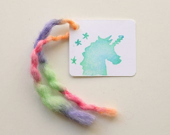 UNICORN favour tags, gift tags, thank you tags, UNICORN favour bag tags, water bottle tags X 10