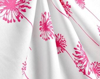 Fuchsia Hot Pink Curtains Dandelion Floral Curtain Panels Window Treatments Drapes Fuchsia Drapery Nursery Home Decor Curtains