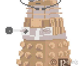 When Art and Scifi Collide, Dalik Cross Stitch Pattern PDF