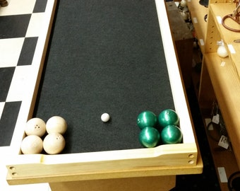 Bocce Handcrafted Portable Table Top Bowling Game For The Young and Old